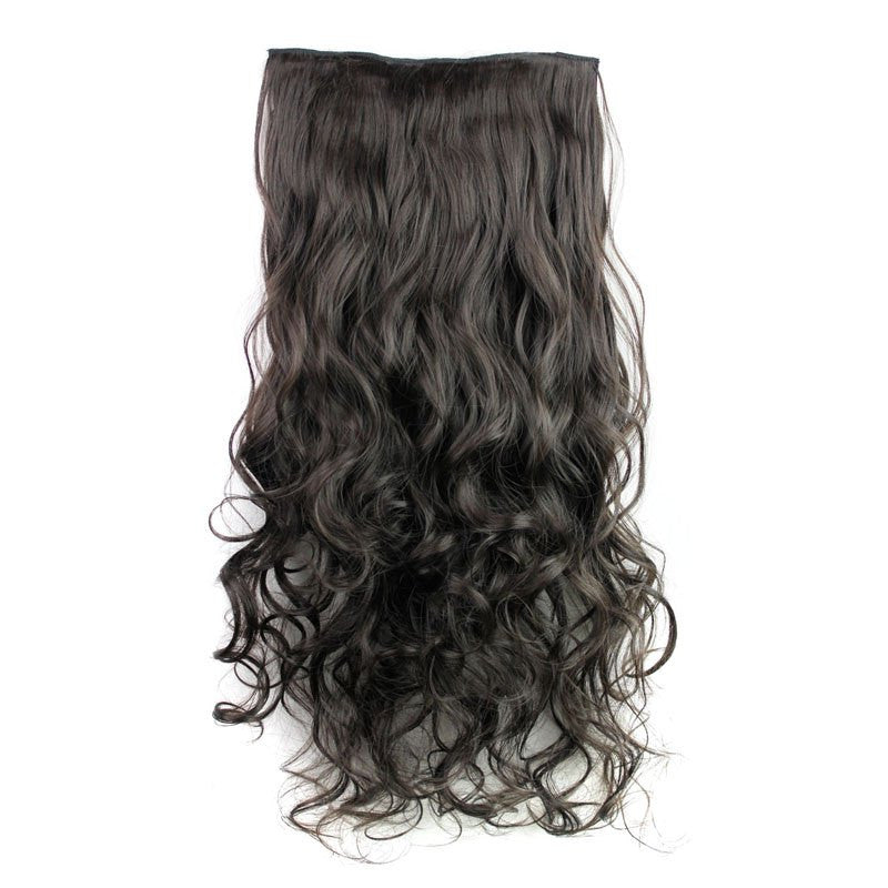 Fashion 23 Inch Long Curly Clip In Heat Resistant Synthetic Hair
