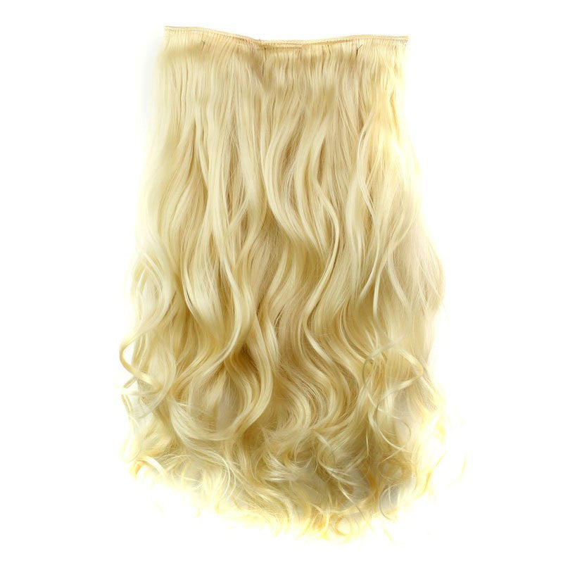 Fashion 23 Inch Long Curly Clip-In Heat Resistant Synthetic Hair Extension For Women
