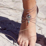Ethnic Style Hollow Out Multi-Layered Anklet For Women