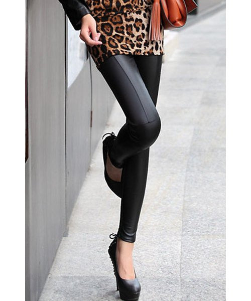 Fashionable Solid Color High-Waisted Leggings For Women