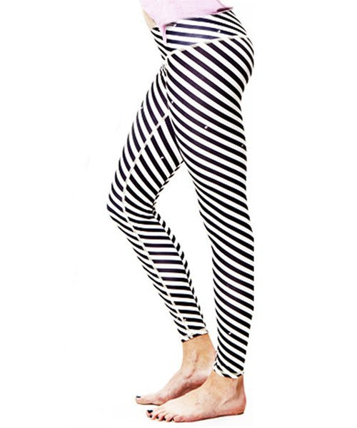 Stylish Striped Stretchy Skinny Women's Pants