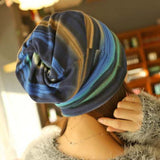 Chic Rainbow Color Multifunctional Double-Deck Beanie For Women