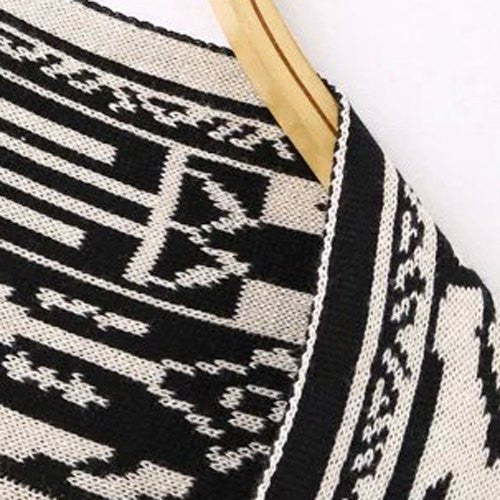 Fashionable Totem Pattern Reversible Cardigan For Women