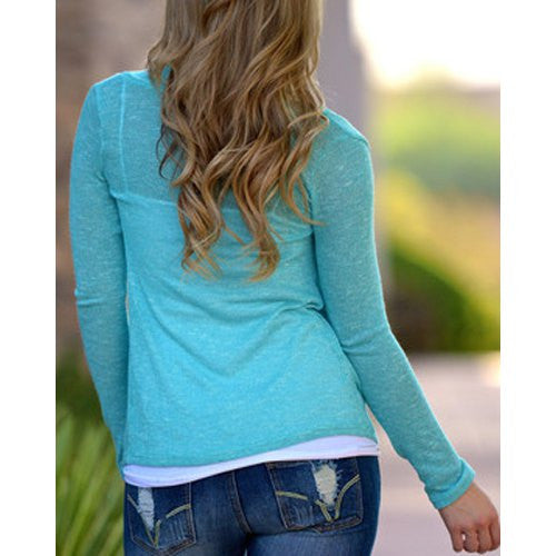 Stylish Solid Color Long Sleeve Cross Pullover Sweater