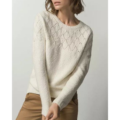 Ladylike Round Collar Long Sleeve Sweater
