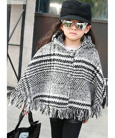 Fashionable Round Neck Long Sleeve Side Zipper Design Color Block Coat For Girl