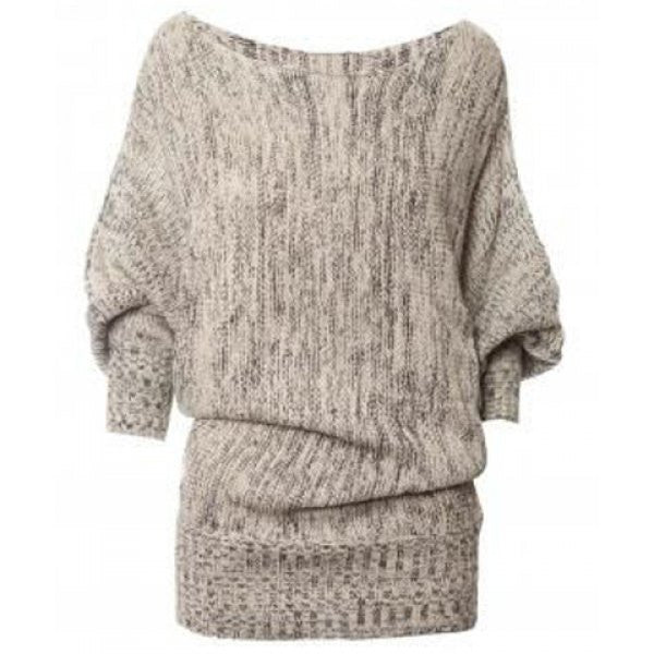 Chic Slash Collar 3/4 Batwing Sleeve Women's Sweater