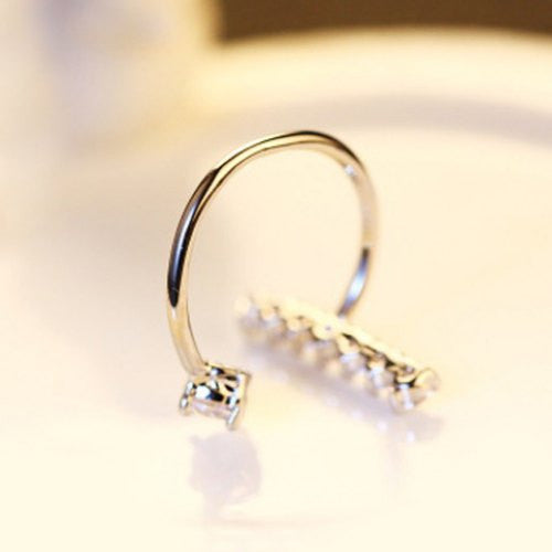 Stunning Rhinestone Cuff Ring For Women
