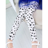 Stylish Star Print Elastic Waist Girl's Leggings