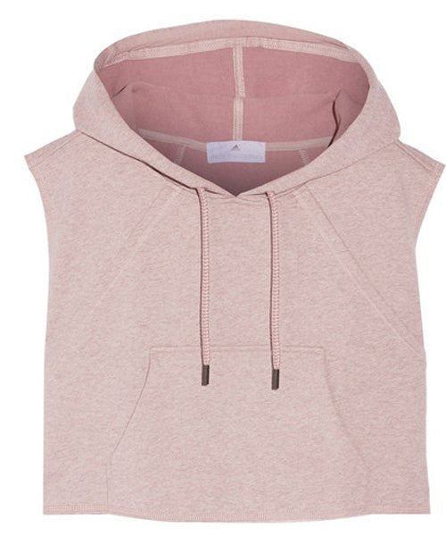 Women's Active Hooded Sleeveless Candy Color Hoodie