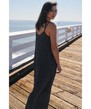Bohemian Style Strappy Polka Dot Baggy Maxi Dress For Women