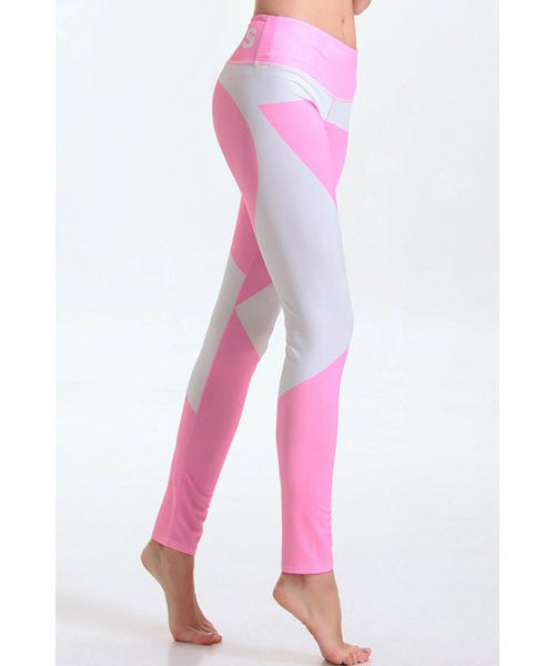 Women's Stylish Elastic Waist Hit Color Leggings