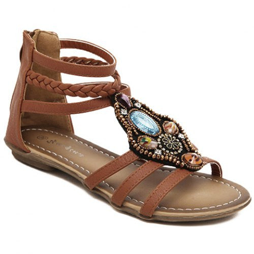 Leisure Flat Heel and Weaving Design Sandals For Women