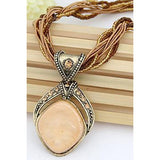 Chic Faux Gem Multilayered Retro Style Necklace