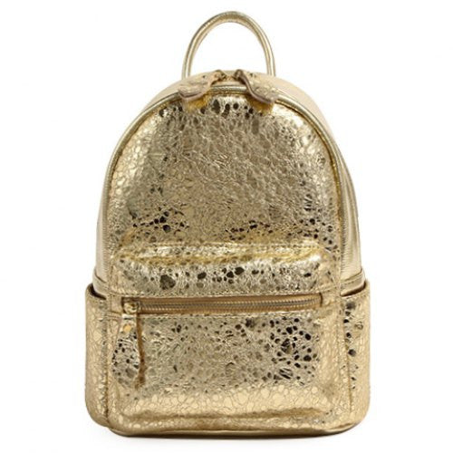 Trendy Metallic Color and Zip Design Satchel For Women