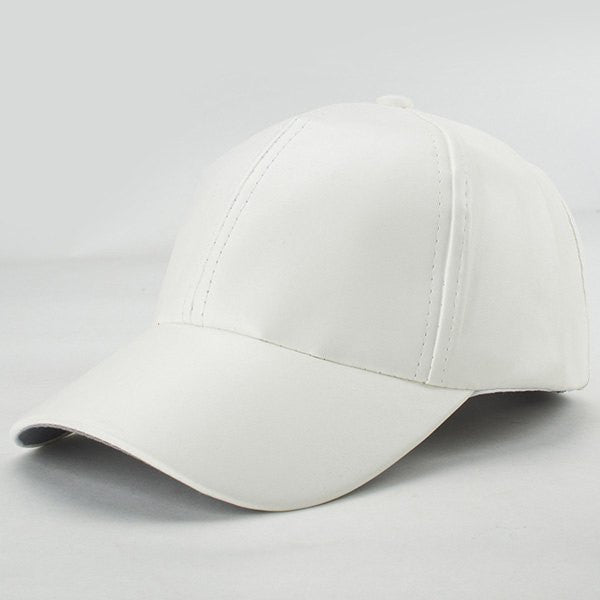 Trendy Candy Color Hip Hop Smooth PU Baseball Hat