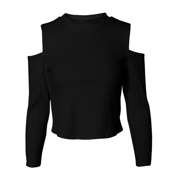 Charming Cut Out Ribbed Slimming Women's Knitwear