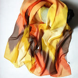 Stylish Chevron Painting Chiffon Scarf