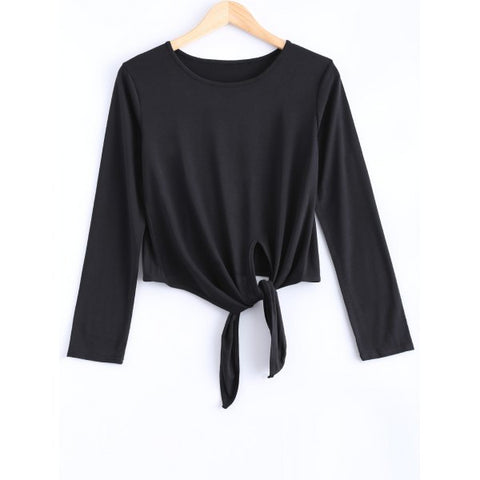 Sweet Spaghetti Strap Solid Color Cut Out Blouse For Women