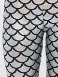 Fish Scale Faux Leather Leggings