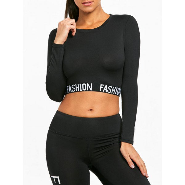 Long Sleeve Crop Sport Top