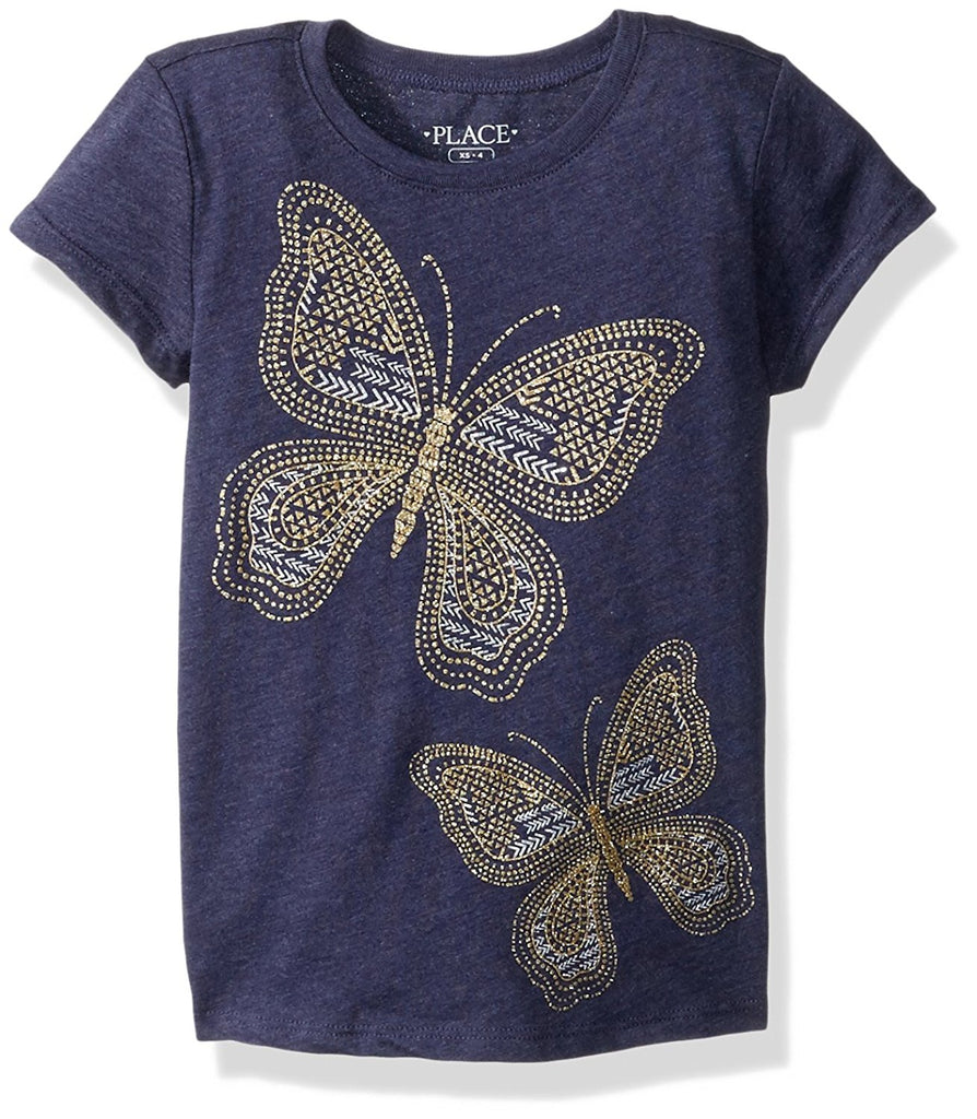 The Children's Place Big Girls' Butterfly Graphic Tee