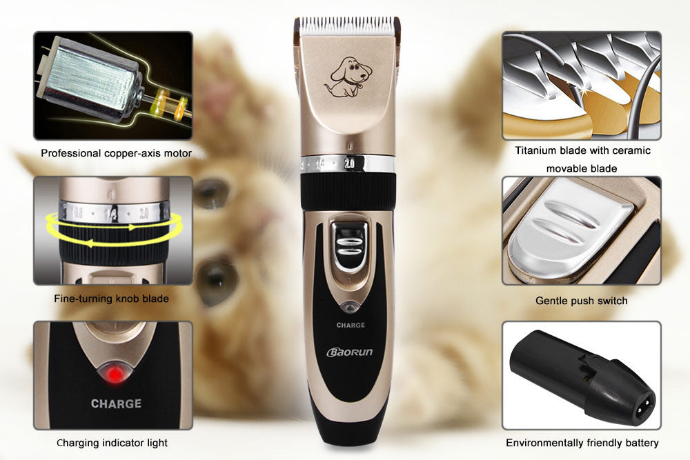 Professional Rechargeable Pet Dog Cat Hair Trimmers Electrical Clippers Cutter Dog Animal Haircut Machine Grooming Tool