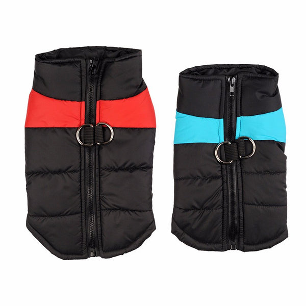 Winter Warm Dog Clothes Waterproof Zip-up Pet Padded Vest Jacket Coat For Medium Large Dogs Ropa Para Perros S-5XL