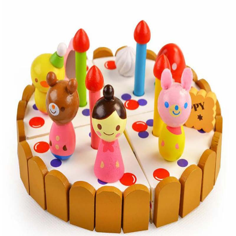 Children mother garden kitchen toys girl assembled birthday gift children mother garden kitchen toys girl assembled birthday gift box packing strawberry cake wooden cut toy negle Images