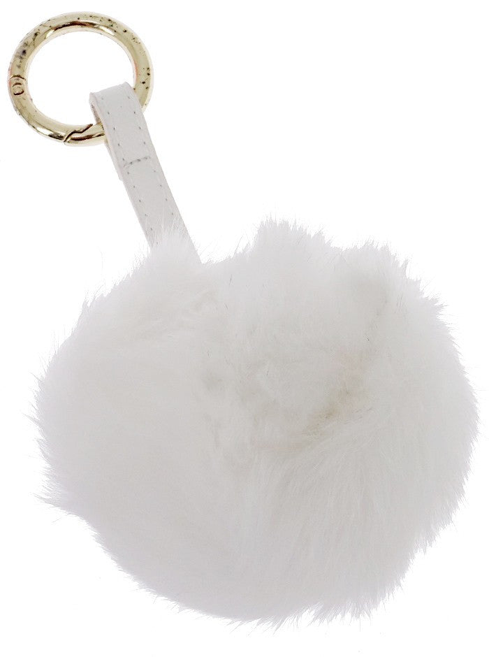 Rabbit Fur Fob Pom Pom Handbag Key Chain