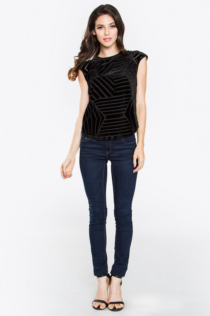 JENNA SHORT SLEEVE TOP