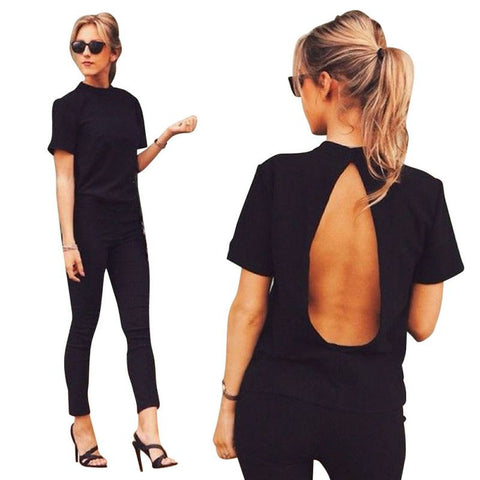 Backless Chic Tee