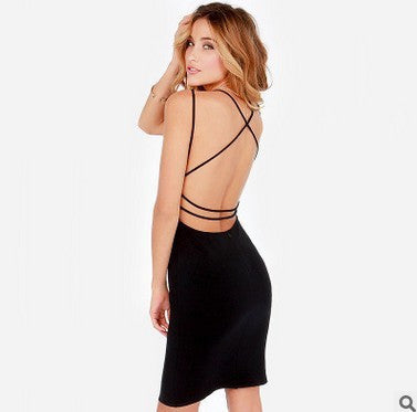 Backless Body Con Dress
