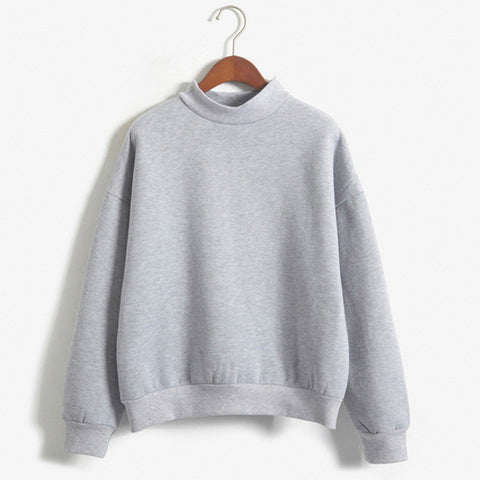Sweatshirt Mock Neck
