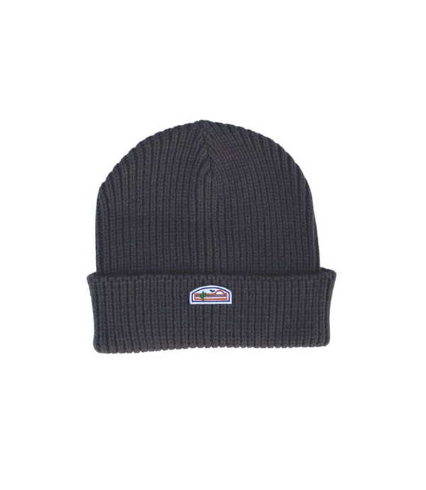 Coast Ribbed Knit Beanie (Charcoal)