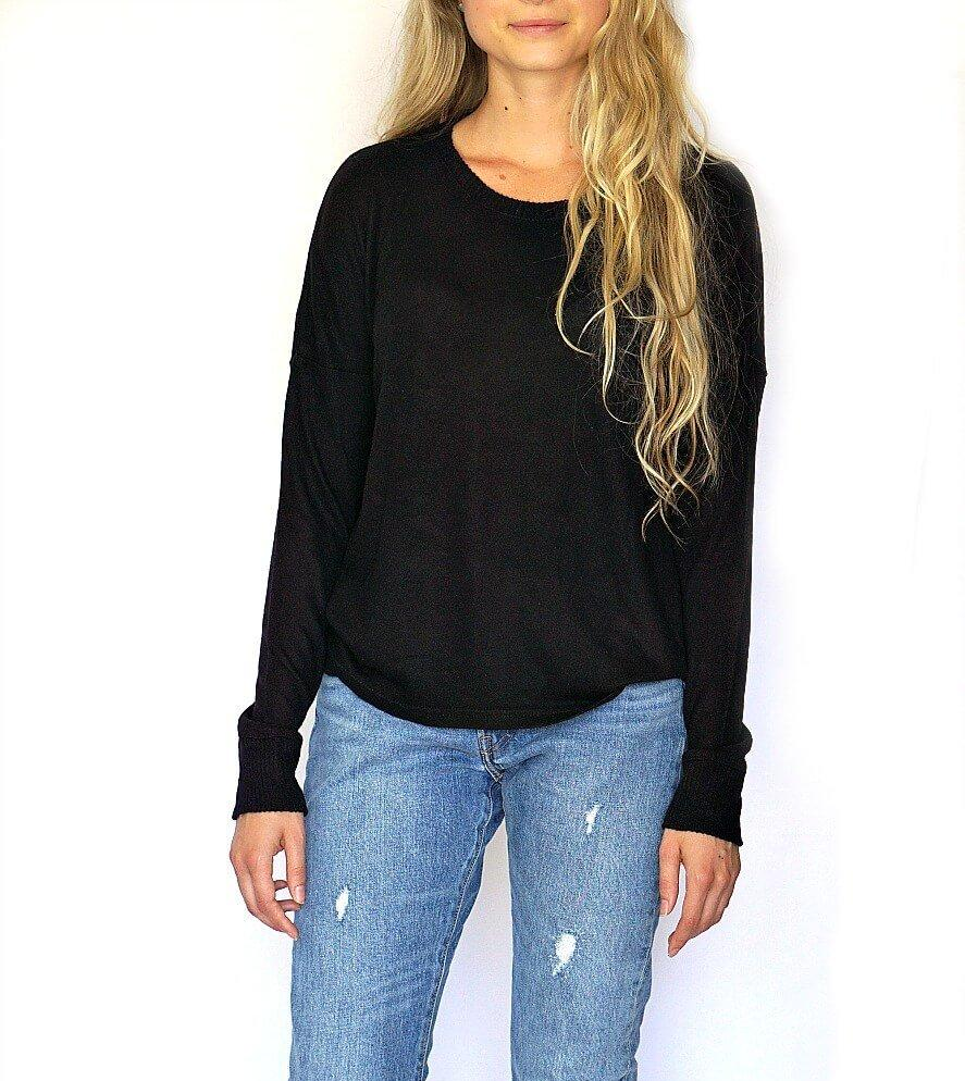 Incredibly soft, women's waspy sweater in natural.  Perfect for any Fall or Winter outfit if looking for women's Fall and Winter fashion. Wear it casual or dress it up, another great from The Lomas Brand.