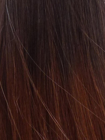 CHESTNUT OMBRE CLIP IN HAIR EXTENSIONS
