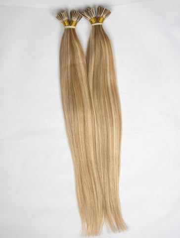 BROWN BLONDE KERATIN HAIR EXTENSIONS