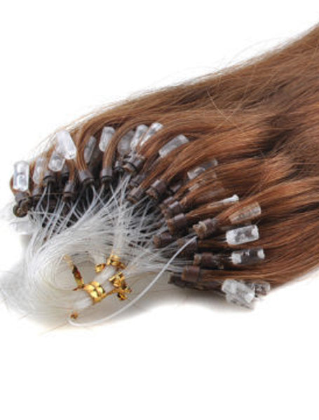 CHOCOLATE BROWN MICRO RING HAIR EXTENSIONS