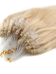 GOLDEN BLONDE MICRO RING HAIR EXTENSIONS