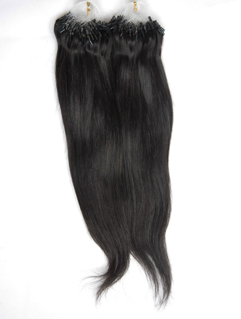Natural black micro ring hair extensions pmusecretfo Image collections