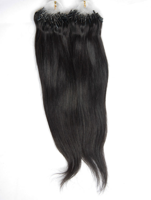 NATURAL BLACK MICRO RING HAIR EXTENSIONS