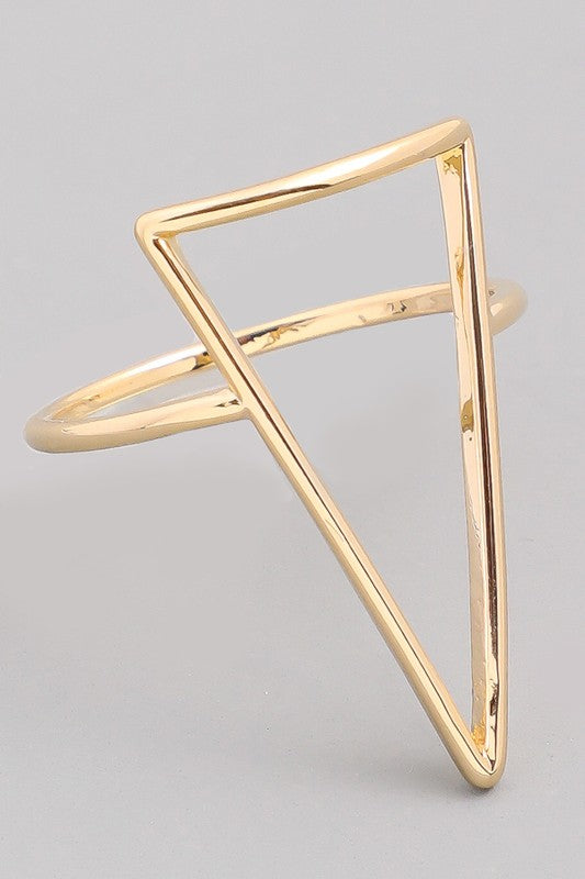 Triangle Thoughts Cut Out Ring