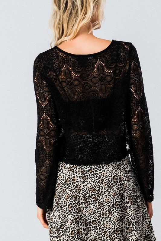 Like a Prayer Lace Crop Top