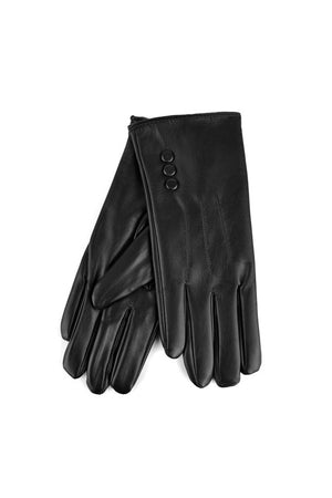 Women's PU Leather Touch Screen Gloves