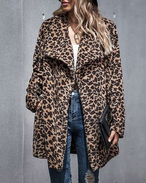 Load image into Gallery viewer, Jenna Faux Fur Leopard Jacket