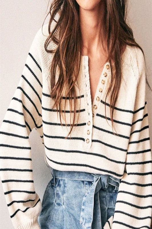 Load image into Gallery viewer, Sail Away Knit Top
