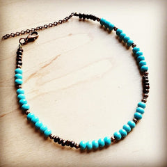 Blue Turquoise Choker Necklace