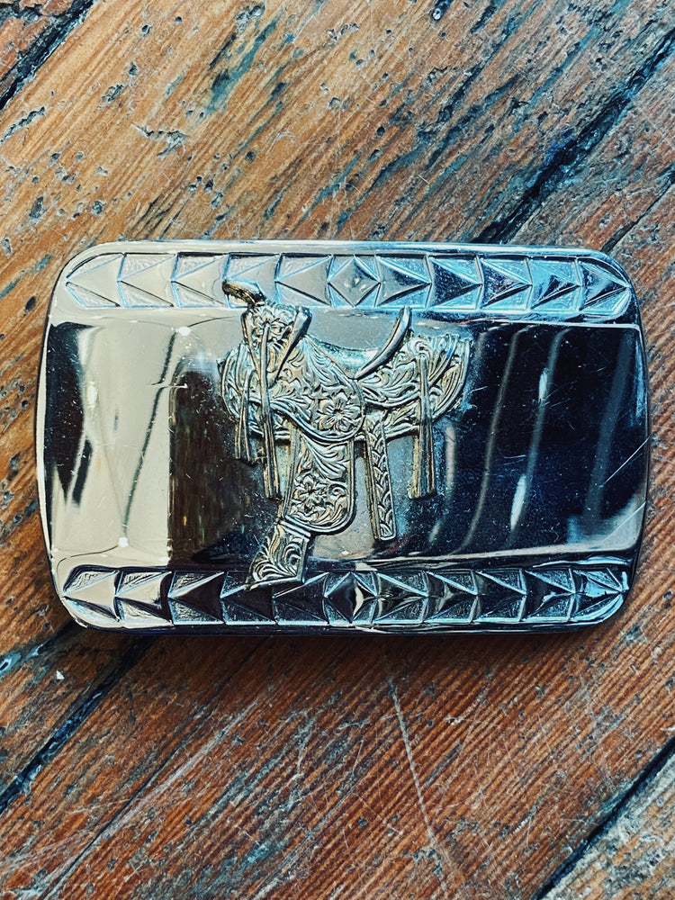 Saddle Up Belt Buckle