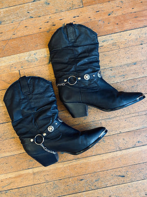 Slouch Bootstrap Boots W Sz 10